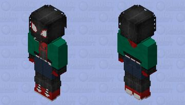 Spider-Man (Miles Morales: Extra Clothes): Spider-Man: Into the Spider-Verse Minecraft Skin