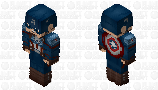 Captain America (Final Battle: With Shield): Avengers Endgame Minecraft Skin