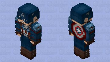 Captain America (Final Battle: With Shield): Avengers Endgame Minecraft Skin