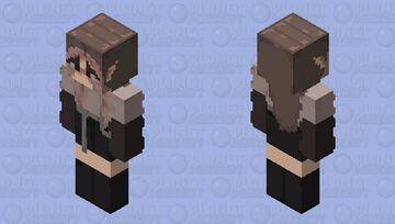 Aesthetic Girl with Elf Ears Minecraft Skin