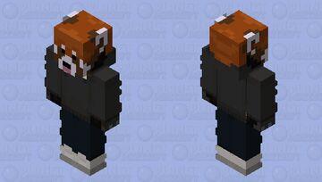 The RedPanda Charcoal Grey Minecraft Skin