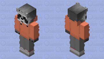 Raccoon SunSet Peach Minecraft Skin