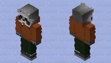 Raccoon The Environment Brown & Green Minecraft Skin