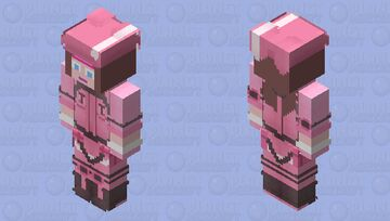 Lolly from Shallow in Brooklyn as Llenn/Karen from SAO Minecraft Skin