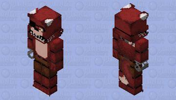 128×128 Unwithered Foxy Minecraft Skin