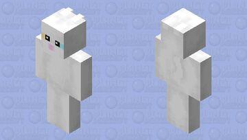 Cuter Minecraft White Cat Minecraft Skin