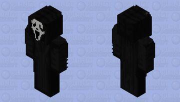 Ghostface (Scream) villain, ghost face, icon of halloween, woodsboro killer, creepy, scary, horror Minecraft Skin
