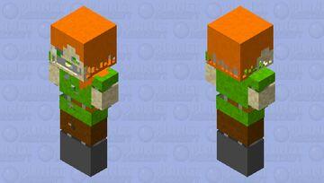 stylized withered alex Minecraft Skin