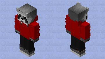 Raccoon Red Minecraft Skin