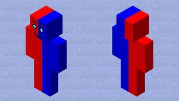 Blue-Red Steampunk MAN Minecraft Skin