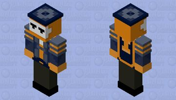 CC Orange boss HD (for bedrock) Minecraft Skin