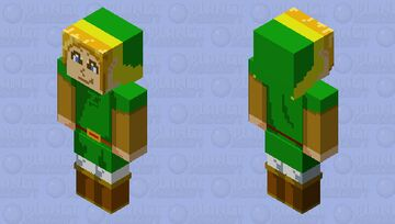 Link (Oracle of Ages/Seasons) Redrawn! Minecraft Skin