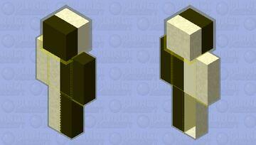 Yellow Glowing Black and White Minecraft Skin