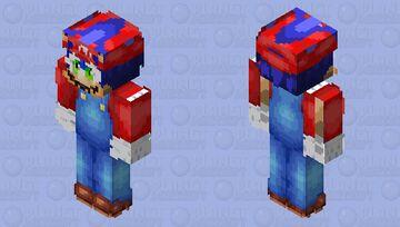 Sonic cosplay mario Minecraft Skin