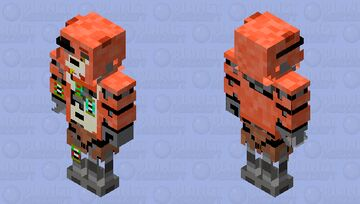 Parts and service foxy / Fnaf VR Minecraft Skin