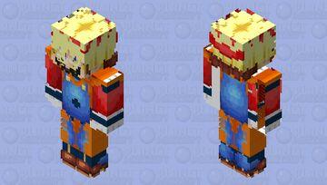 Bug do mario cosplay goku Minecraft Skin