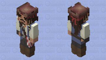 Best on the internet Caprain Jack Sparrow skin (second version) So drunk Minecraft Skin