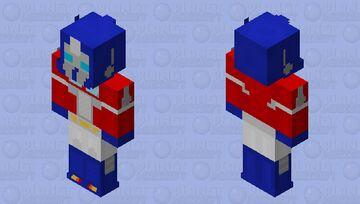 Generation 1 Optimus Prime Minecraft Skin