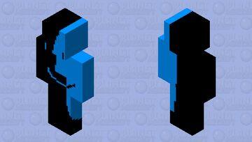 Black And White MacOS Logo Minecraft Skin
