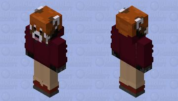 The RedPanda Classic Wine Minecraft Skin