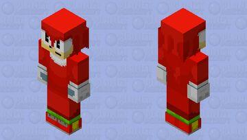 knuckles remastered Minecraft Skin