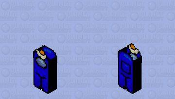 Amogus blue is sus Minecraft Skin