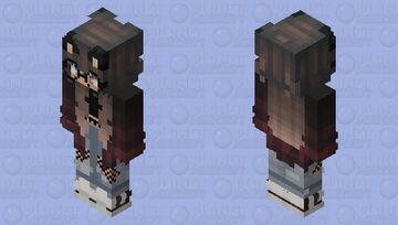 Cat girl who works at the library! Minecraft Skin