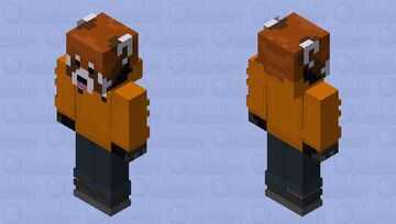 The RedPanda Orioles Orange Minecraft Skin