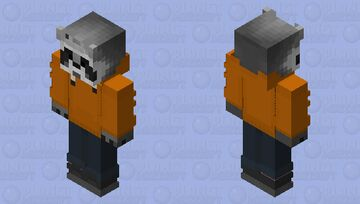 Raccoon Orioles Orange Minecraft Skin