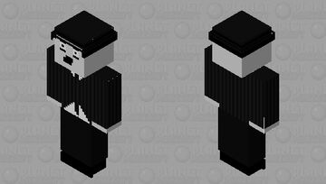 Charlie Chaplin en noir et blanc Minecraft Skin
