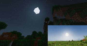 3D Sun and Moon Minecraft Texture Pack