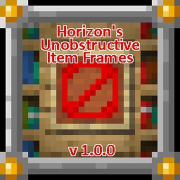 Horizon's Unobstructive Itemframes [1.14, 1.15] [No Optifine] Minecraft Texture Pack
