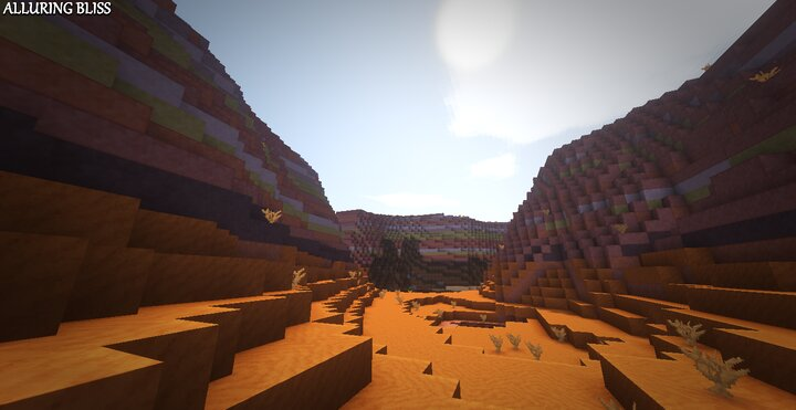 Mesa Biome with AlluringBliss and Shaders