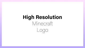 High Resolution Minecraft Logo Minecraft Texture Pack