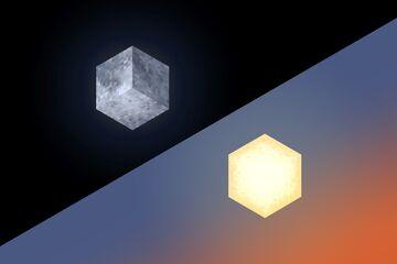 Isometric Sun & Moon Cubes Minecraft Texture Pack