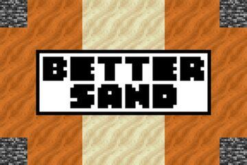 BEDROCK EDITION - BETTER SAND Minecraft Texture Pack