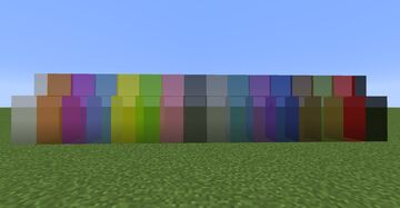Bare bones stained glass Minecraft Texture Pack
