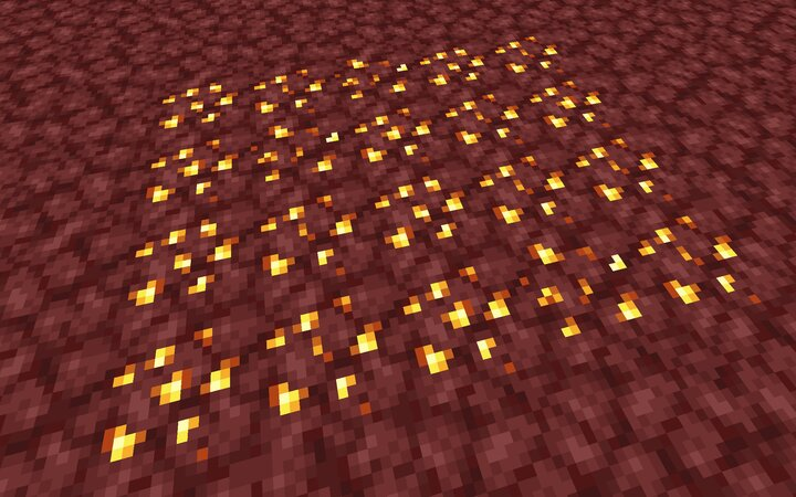 Variated nether gold ore in the pack.