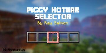 Piggy Hotbar Selector (Bedrock Edition) Minecraft Texture Pack