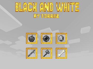 Black and White 100% Minecraft Texture Pack