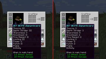 Latin numbers, to numeric numbers. Minecraft Texture Pack