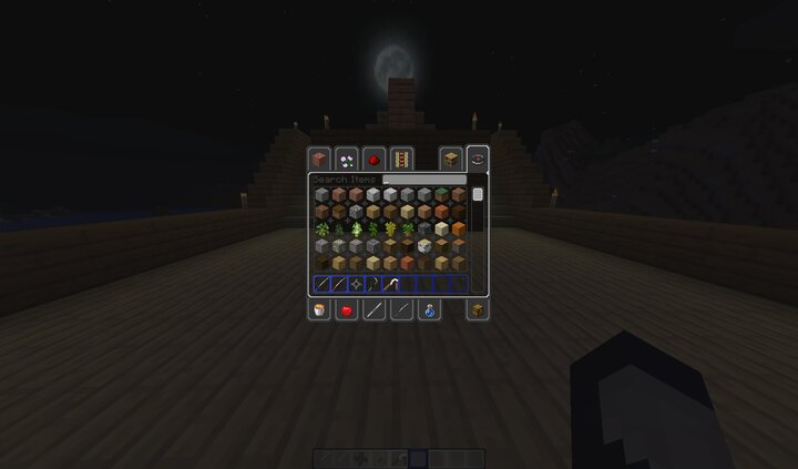 Nice creative inventory and scrollbar