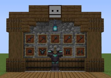 1.16+ Netherite Armor Fix and Removed Helmets Minecraft Texture Pack
