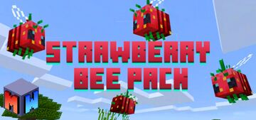 Strawberry Bee Pack (Bedrock) Minecraft Texture Pack