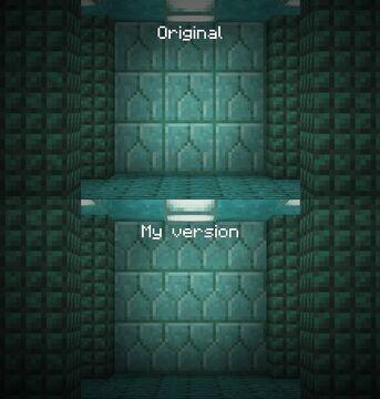 Improved Prismarine Bricks (+ Vanilla Tweaks' Slabs) Minecraft Texture Pack