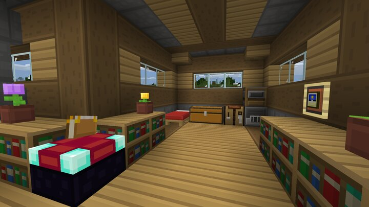 A house showing off some basic decoration blocks!