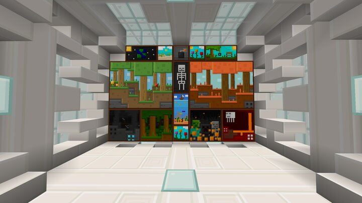 A quartz room showing some of the custom paintings!