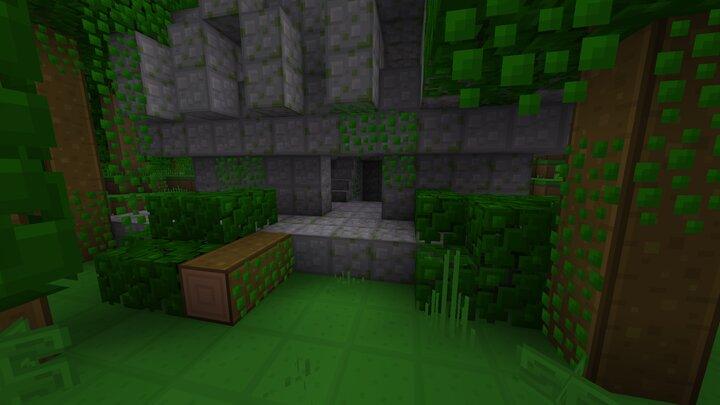 A Temple deep inside of a Jungle biome