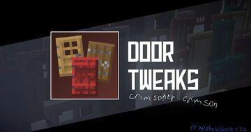 Door Tweaks: Crimsoner Crimson Minecraft Texture Pack