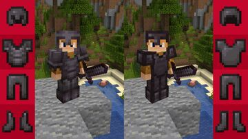 Classic Styled Netherite Armor Minecraft Texture Pack